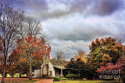 Log Cabin Photograph - The Gift Shop by Darren Fisher