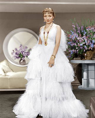 The Gilded Lily, Claudette Colbert, 1935 Print by Everett