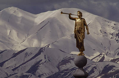 The Gilded Statue Of The Angel Moroni Print by James P. Blair