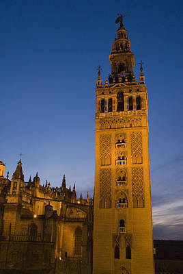 The Giralda Tower And Cathedral De Print by Krista Rossow