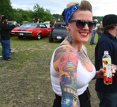Grils Photograph - The Girl With The Space Needle Tattoo by Kym Backland