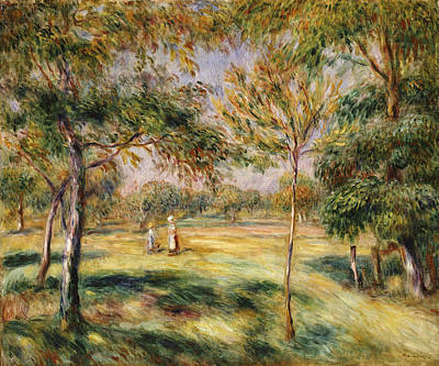 Tall Tree Painting - The Glade by Pierre Auguste Renoir