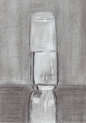 Optimistic Drawing - The Glass by Carmela De Rosa