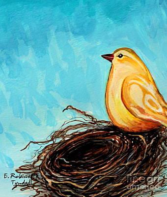 Birds Painting - The Golden Bird by Elizabeth Robinette Tyndall