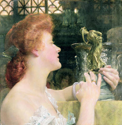 Alma-tadema Sir Lawrence 1836-1912 Painting - The Golden Hour by Sir Lawrence Alma-Tadema