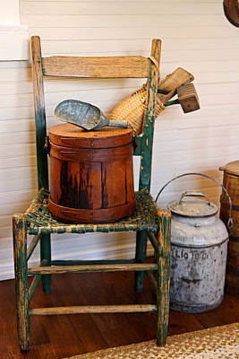Wooden Ware Photograph - The Good Old Chair by Carmen Del Valle