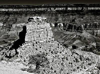 The Grand Canyon Bw Print by Bob and Nadine Johnston