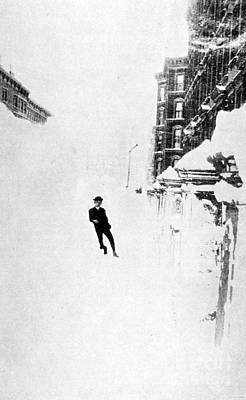 The Great Blizzard, Nyc, 1888 Print by Science Source