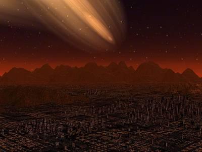 Constellation Digital Art - The Great Comet by Diana Morningstar