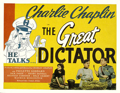 The Great Dictator, Paulette Goddard Print by Everett