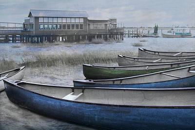 The Green Canoe Print by Debra and Dave Vanderlaan