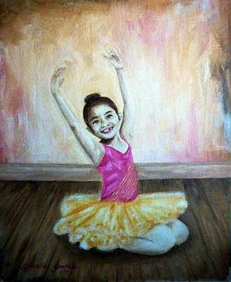 Gizelle Perez Painting - The Happy Ballerina by Gizelle Perez