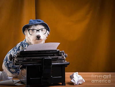 Typewriter Photograph - The Hard Boiled Journalist by Edward Fielding