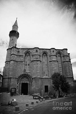 the haydar pasa mosque h p gallery formerly st catherine church TRNC turkish northern cyprus Print by Joe Fox