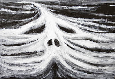 Monotone Painting - The Head Of Leviathan by Kazuya Akimoto
