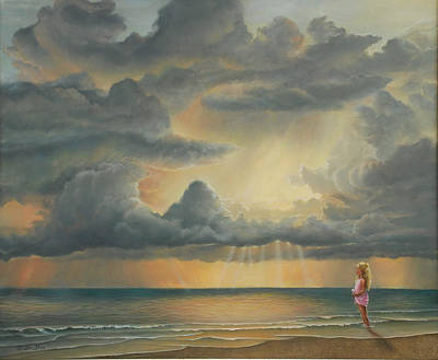 The Heavens Declare His Glory Print by Ruth Gee