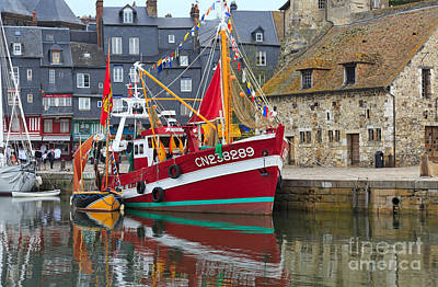 Harbor Photograph - The Historic Fishing Village Of Honfleur by Louise Heusinkveld