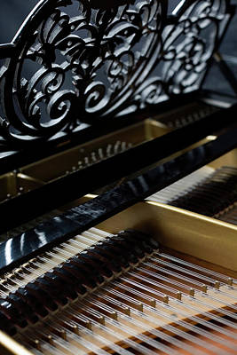 Part Of Photograph - The Inside Of A Piano by Studio Blond