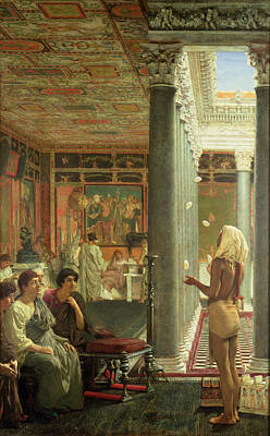 Corinthians Painting - The Juggler by Sir Lawrence Alma-Tadema