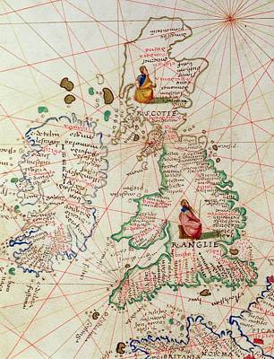 The Kingdoms Of England And Scotland Print by Battista Agnese