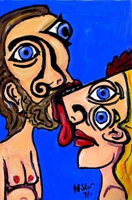 Pi Painting - The Kiss by Karl Haglund