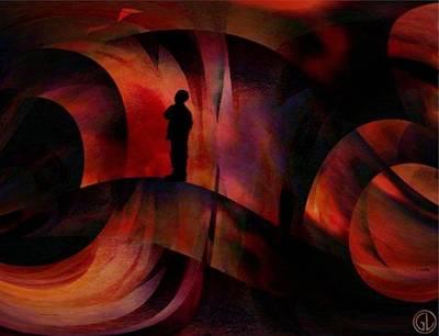 Abstract Forms Digital Art - The Kite by Gun Legler