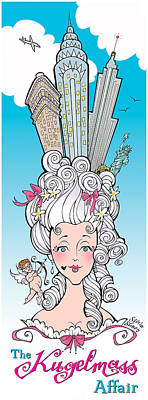Hairdo Mixed Media - The Kugelmass Affair by Steven Stines