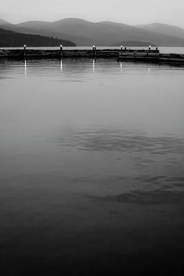 The Lake At Dusk Print by David Patterson