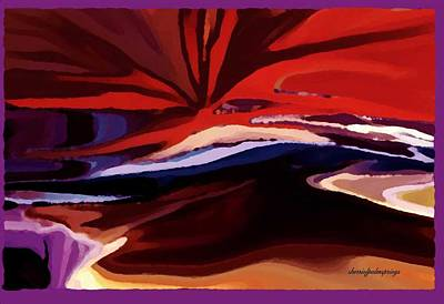 Universe Painting - The Landing by Sherri  Of Palm Springs