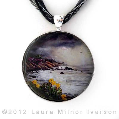 The Last Storm Pendant Original by Laura Iverson