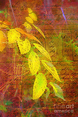 The Leaves Of Yesteryear Print by Judi Bagwell