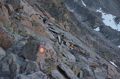 The Ledges On Longs Peak Original by Cynthia  Cox Cottam