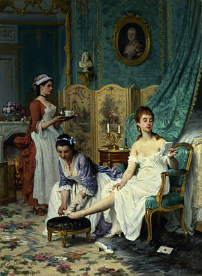 The Levee Print by Joseph Caraud