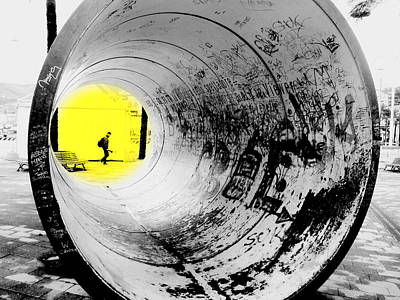 The Light At The End Of The Tunnel Print by Valentino Visentini