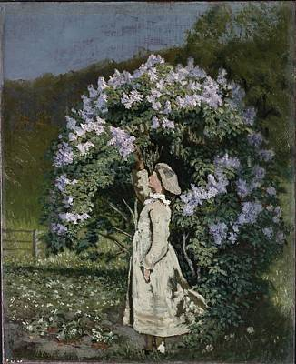 Youthful Photograph - The Lilac Bush by Olaf Isaachsen