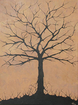 Contemplative Painting - the Lindsey Tree by Julia Raddatz