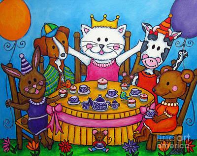 The Little Tea Party Print by Lisa  Lorenz