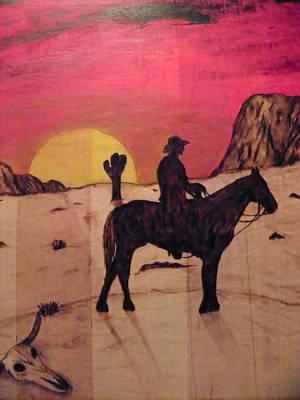 The Lone Cowboy Print by Andrew Siecienski