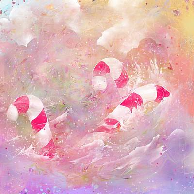 The Lost Candy Canes Print by Rachel Christine Nowicki