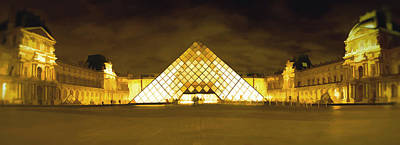 The Louvre Print by Photography Art