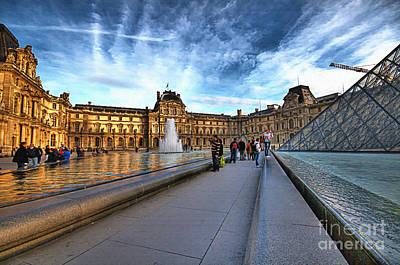 Louvre Mixed Media - The Louvre Paris by Charuhas Images