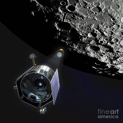 Centaur Digital Art - The Lunar Crater Observation by Stocktrek Images