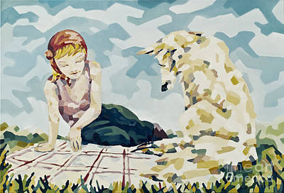 Fairy Tale Painting - The Luncheon On The Grass - Picknick Im Gruenen by Florian Divi