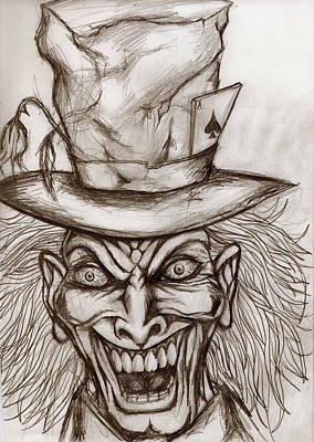 The Mad Hatter Print by Michael Mestas