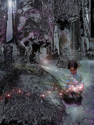 Innocent Angels Digital Art - The Magic Hawk Feather by Atheena Romney