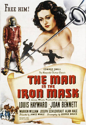 Postv Photograph - The Man In The Iron Mask, Louis by Everett