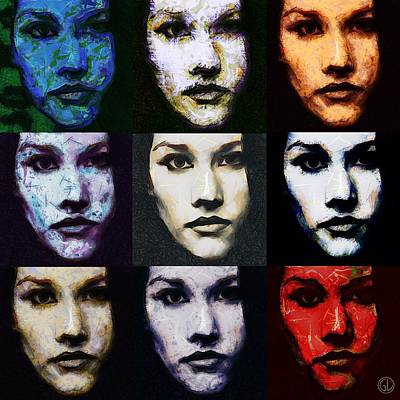 Face Digital Art - The Many Faces Of Eve by Gun Legler