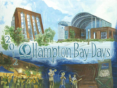 The Many Scenes Of Bay Days Print by Michael Morgan