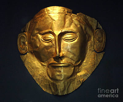 The Mask Of Agamemnon Print by Bob Christopher