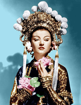Gold Lame Photograph - The Mask Of Fu Manchu, Myrna Loy, 1932 by Everett